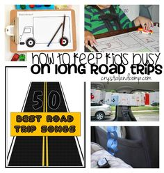 Activities to keep kids busy on long road trips!