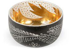 Waylande Gregory Black Thistle Bowl on OneKingsLane.com $575