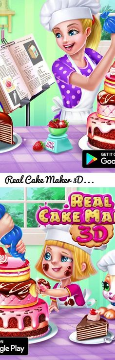 Real Cake Maker 3D | TabTale... Tags: Maker, Fun, Game, Shake, Real, Cake, 3D, Bake, Design, Decorate, Ice, Cream, Bride, Frozen, Yummy, Delicious, Party, Dough, Jelly, Chef, Rainbow, Pie, Cook, Bakery, Candy, Cookie, Free, Crush, Eat, Food, Food