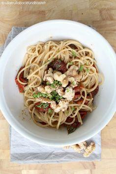 Schnell und gut | Rezept für Pasta mit karamellisierten Walnüssen - ullatrulla backt und bastelt