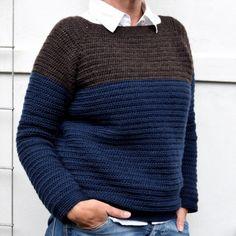 Den nemmeste sweater, gratis hækleopskrift på den herligste uldsweater Love Crochet, Diy Crochet, Knitting Patterns, Crochet Patterns, Sweaters For Women, Men Sweater, Crochet Cardigan, Crochet Clothes, Pullover