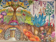 Enchanted Forest; Johanna Basford; Right side of picture