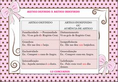 Lu Concursos: ARTIGO DEFINIDO X ARTIGO INDEFINIDO