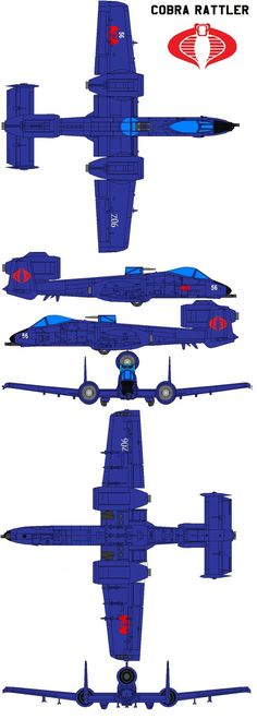 """Inspired by the USAF A-10 Thunderbolt II, it originally appeared in 1984 as the primary attack plane of the terrorist organization Cobra. The toy came with a mercenary Cobra pilot codenamed """"Wild W..."""