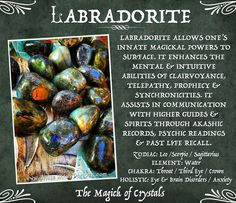LABRADORITE TUMBLED CRYSTAL. For Spiritual Strength & Psychic Enhancement. book of shadows, crystals, metaphysical, witch. www.whitewitchparlour.com