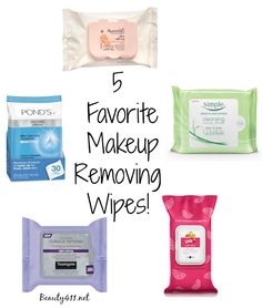 You can't beat the convenience...here are 5 favorite makeup removing wipes! Pin and save!