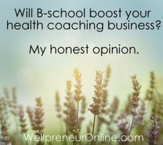 Will B-school boost your health coaching business? My honest opinion! | WellpreneurOnline