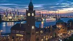 Hamburg/ Altona: Landungsbrücken