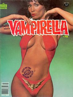 Vampirella #78 cover: I was looking for this one. I dropped the logo below the normal 'viewing position' - allowing Barbara Leigh's face to be what peered out at the reader in the racks. And always liked the 'tattoo' that I gave her for the title story.
