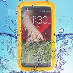 Practical Transparent Waterproof Plastic and Silicone Protective Case for LG G2 D800 D801 D803