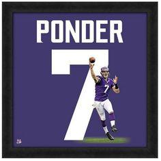 "Christian Ponder Minnesota Vikings - 20"" x 20"" Uniframe"