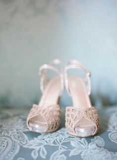 Beaded Bridal Platform Sandals | photography by http://buffydekmarblog.com