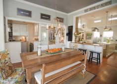 Eat in kitchen, digging everything about this except maybe that lighting fixture
