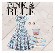 """""""Pink and Blue"""" by chauert ❤ liked on Polyvore featuring Oxford and Sophia Webster"""