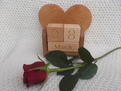 Wooden calendarperpetual handmade wooden by WoodpeckerLG on Etsy