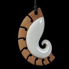Koru • Fern Frond Pendant by Kerry Kapua Thompson, Māori artist (NZ120510)