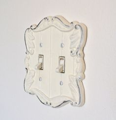 Shabby Chic White Cast Iron Switch Plate Light by ShabbyChicLife, $12.00