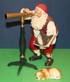 Possible Dreams Clothtique Stargazer Santa Claus w/ telescope & dog 713186 #babescollectibles