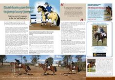 Training your horse to jump 'scary' jumps