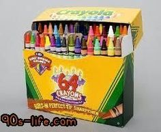 Super-sized boxes of crayons with a built-in sharpener
