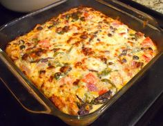 Cajun Delights: Creole Brunch Casserole w/ Bacon-Cheese Grits