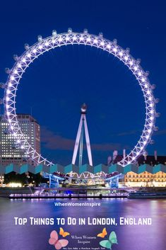 The London Eye. These are only a few of the exciting things to do in London England on your trip. Here are must-see attractions! Things To Do In London, London Eye, London Travel, London England, Big Ben, Attraction, Stuff To Do, Travel Tips, Explore