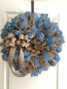 Blue Floral and Denim Country Wreath 2018https://www.etsy.com/listing/576685054/blue-floral-and-denim-wreath
