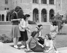 Students on the University of California campus at Los Angeles. 1945