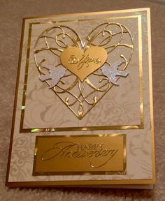 Golden Anniversary Card by cards4joy - Cards and Paper Crafts at Splitcoaststampers