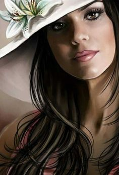 Eye Drawing Tutorials, January 12, Painting Of Girl, Fantasy Women, Illustrations, Pin Up Art, Beauty Art, Girl Face, Face Art