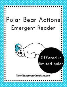 Polar bear actions emergent reader. #literacy