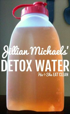Looking to drop that extra water weight and reduce bloating? Try Jillian Michaels detox water - It is a natural diuretic drink! Looking to drop that extra water weight and reduce bloating? Try Jillian Michaels detox water - It is a natural diuretic drink! Detox Cleanse For Weight Loss, Body Detox Cleanse, Full Body Detox, Stomach Cleanse, Liver Cleanse, Lemon Juice Cleanse, Digestive Cleanse, 3 Day Cleanse, Dandelion Root Tea