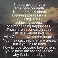 My life has purpose, so does yours