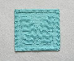 BUTTERFLY Knit Dishcloth  Baby Wash Cloth  by AuntSusansCloset, $6.50