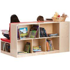 Guidecraft Modular Library Storage Set with Seat, Children Bookcase Shelves - Kids Furniture Cubbies Kids Bookcase, Bookcase Shelves, Bookcases, Library Furniture, Kids Furniture, Classroom Design, Classroom Decor, Classroom Furniture, Future Classroom