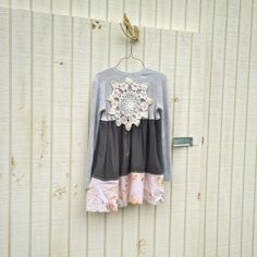 Funky Eco Romantic Babydoll Sweater Dress / Frock / by CreoleSha, $72.99