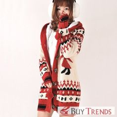 Fashionable Women's Long Sleeve Thicken Hooded Sweater on Buytrends.com, only price $38.75