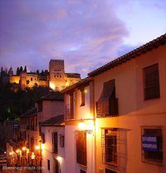 La Alhambra al atardecer, desde el Albaicín