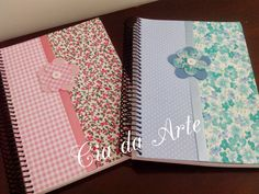 cadernos encapados com tecido e renda - Pesquisa Google
