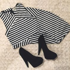 Adorable Striped Dress Worn once, perfect condition. From a local boutique! Monteau Dresses Mini