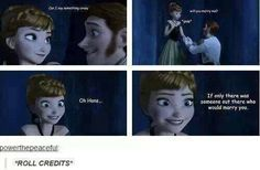 PLOT twist (Frozen) haha Ohhhh hans if only there was someone who loved u