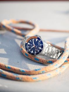 The Khaki Navy Scuba Auto, available in a variety of colorful dial and strap options, is guaranteed to make a splash.