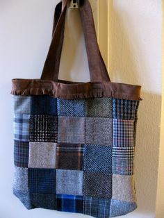 Bag made out of different textiles, great to use what is left from previous works