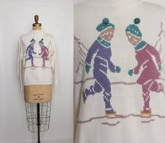 A personal favorite from my Etsy shop https://www.etsy.com/listing/582444137/vintage-80s-ice-skating-sweater-novelty