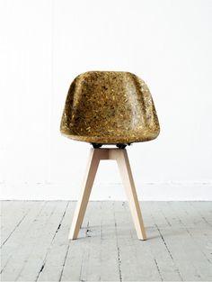 Een Eames-stoel van artisjokken