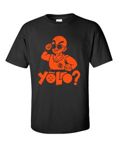DBZ Parody - Krillin YOLO Hand Printed T-shirt - need this for the brother!!!