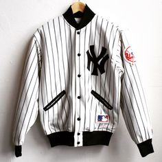 vintage 1980s NY YANKEES Baseball JACKET | Tough Luck Vintage ...