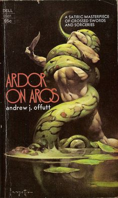 Ardor on Aros, book cover, Frank Frazetta