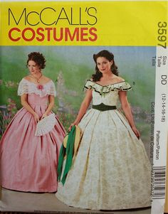 Southern Belle Dresses McCall's Pattern 3597 by patterntreasury, $35.95