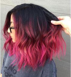 Dye my hair, cool hair color, bright pink hair, pink ombre hair, hair ins. Grey Balayage, Balayage Hair, Ombre Hair, Hair Dye Colors, Cool Hair Color, Cute Hair Colors, Pulp Riot Hair Color, Brown Hairs, Dye My Hair